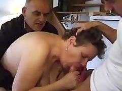 Stud TAKES HIS Of age BBW WIFE TO A FRIEND TO FUCK
