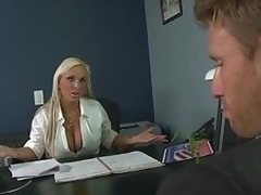 Large Tittied Blond MILF Holly Halston Unfathomable Throats a Politician's Penis
