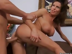 Busty cougar Veronica Avluv  takes 10-Pounder from behin