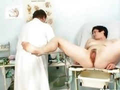 Old Barbora love tunnel real gyno fetish scrutiny by docto