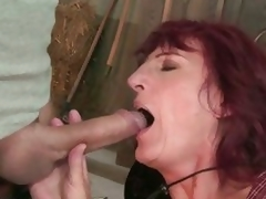 The hot guy didn't mind that he was mouth fucking grandma Ria