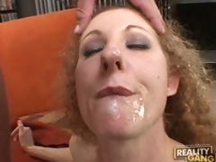 Penis hungry milf Annie Body sucks hard for a mouthfull of cum