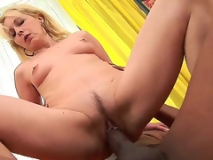 Golden-haired slender mature granny Koko Golden-haired acquires a massive dark cock unfathomable in her driping juicy holes
