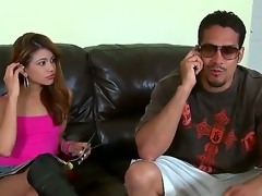 Brannon Rhodes uses his rock hard boner to make fellatio junkie Dark brown Veronica Rodriguez glad
