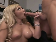 Billy Glide is one hard-dicked fellow who loves oral-stimulation sex with Blonde with massive hooters and bald cum-hole