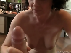 This mature housewife isnt willing to retire from sex yet, so she takes Roccos massive cock in her throat and shows her skills!