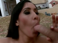 Isis is a rich and lustful MILF! After a hot masturbation that babe decided to feel a large wang in her holes!!! So that babe sucks it and acquires in her pussy!!! So just watch and have a fun people!