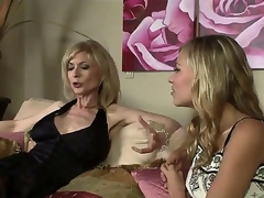 The luxurious milf pornstar Nina Hartley adores young girls and when this babe sees this gorgeous college bimbo Nicole Ray this babe decides to seduce her in any possible way