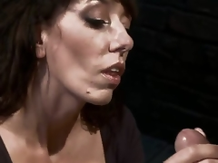 Desperate MILF with giant milk cans is reduced to an object of desire and castigation when she tries to seduce a pissed off and kinky mechanic! Amazing skillful milf with deep throat!