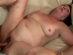 Eve Tickler is a nasty fuck hungry granny who can't get enough. Indecent older woman with gorgeous diminutive bra buddies gives oral-job to her fuck buddy and then acquires her cookie drilled deep and hard on the bed