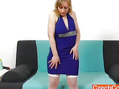 Susan Blond plays with fake penis