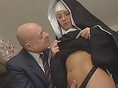 Nun & Filthy old man. No sex