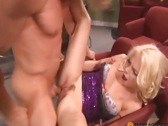 Curly lad bonks angel in her delicate cum-hole