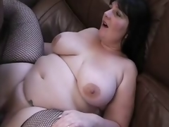 Raven-haired English BBW receives IR BBC