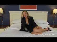 Professional milf doesnt have time for sex so does her 1st porn