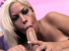 Bridgette B. swallowing cock and the juice that flows out of it