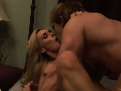 Tanya Tate banged hardcore after engulfing a hard guy's meat pole