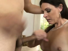 Breathtaking milf with long darksome hair, hot titties and a taut cunt has dreams to explore