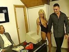 Super hot MILF blond nympho Cony Ferrara gets double teamed