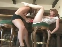 Milf pleasures a young redheaded girl