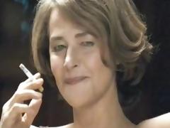 Sexy MILF Smokin' in her Lingerie