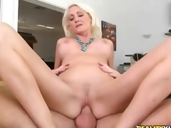 Hardcore sex with beautiful big titted blond milf