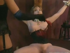 Busty Uncomplaining Mature Acquires Tied Up and Whipped By Super Sexy Dominatrix